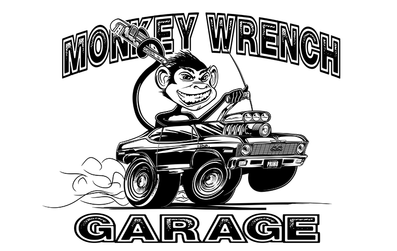 Monkey Wrench Garage Inking