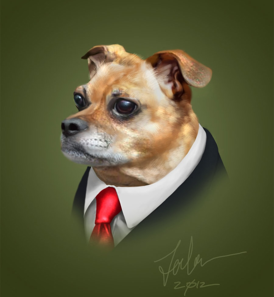 Portrait of Riley the Puggle
