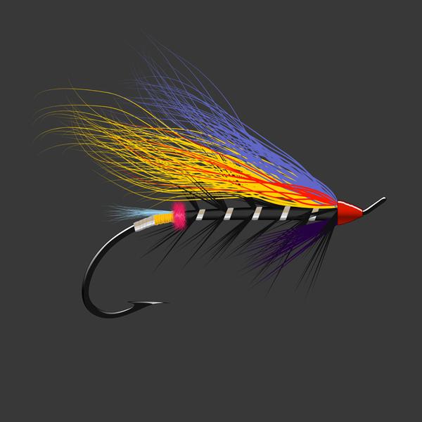 Salmon Fly - Black Doctor