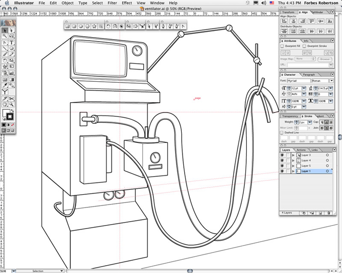 Ventilator (Line Art)